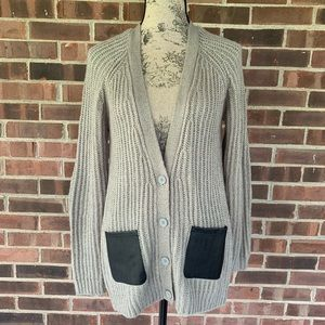 Olive & Oak cardigan elbow patch